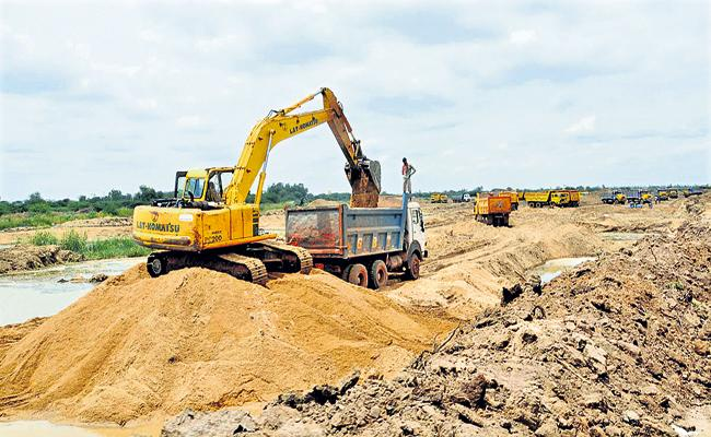 Sand Dredging In Accordance With The Regulations In AP - Sakshi