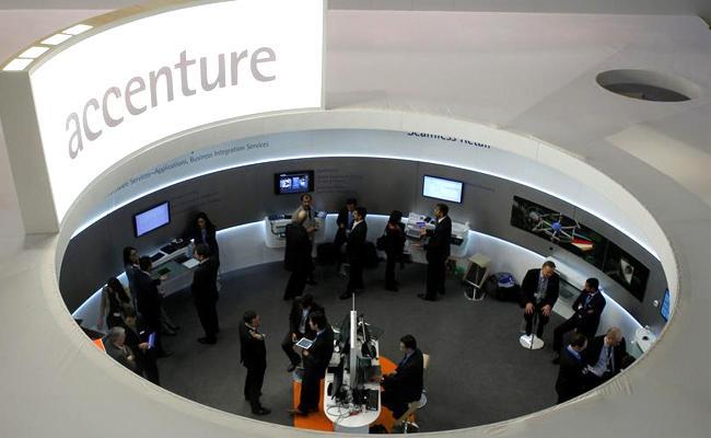 Accenture push- TCS, Infosys hits record highs - Sakshi