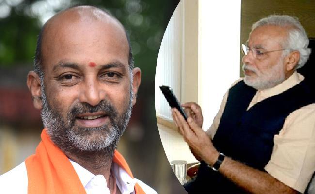 Narendra Modi Calls To Bandi Sanjay Over GHMC Elections 2020 - Sakshi