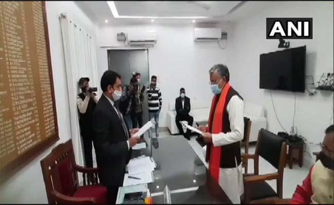 Sushil Modi files nomination for Rajya Sabha by-election as NDA candidate - Sakshi
