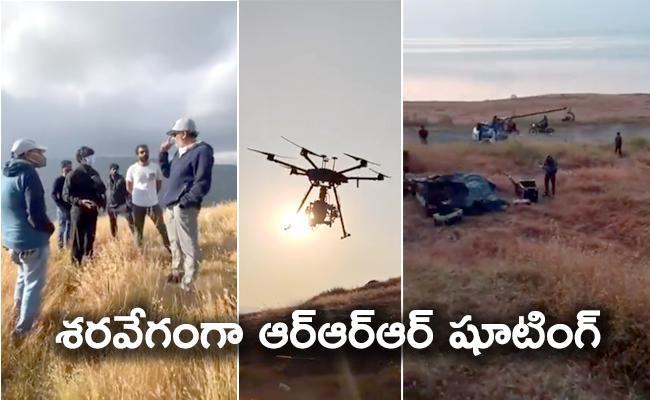 RRR Movie : NTR And Ram Charan Shooting In Mahabaleshwar - Sakshi