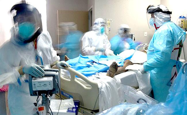 Number Of Covid Deaths In UK And America Increase - Sakshi