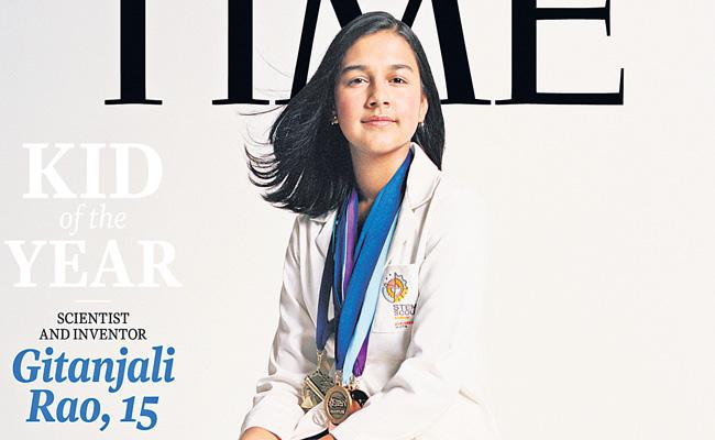 15-year-old Indian-American Gitanjali Rao is  brilliant young scientist - Sakshi