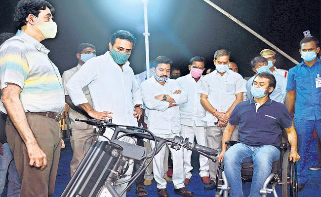 The Society Should Support And Stand With Disabled: KTR - Sakshi