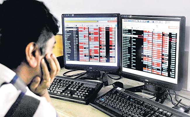 Sensex gains 447 points ends at 45,080 as RBI revises FY21 GDP growth outlook - Sakshi