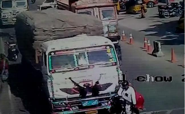 Mancherial Road Accident Video Gone Viral - Sakshi