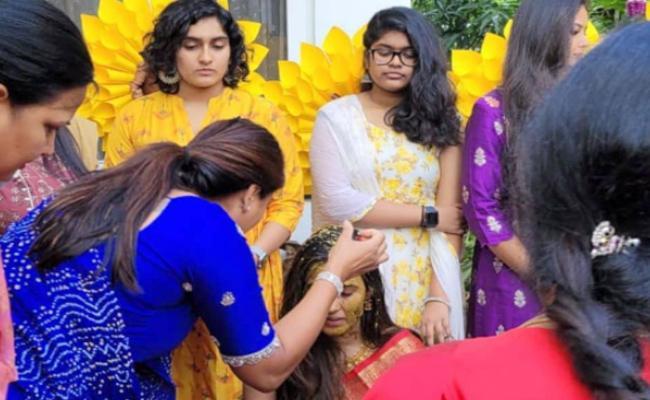 Viral: Niharika Konidela Pre Wedding Festivities Begin At Her Home - Sakshi