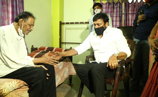 Chiranjeevi Meets Journalist Ram Mohan Naidu - Sakshi