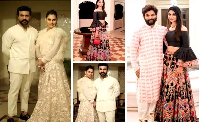 Ram Charan, And Allu Arjun Couple Grab Attention At Niharika Marriage - Sakshi