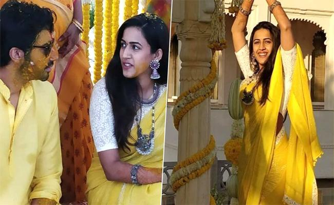 Viral: Niharika Haldi Ceremony Took Place Today In Udaypur - Sakshi