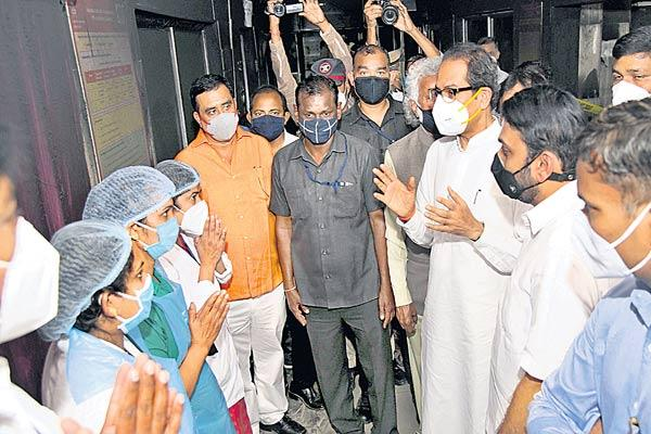 Maharashtra CM Uddhav Thackeray Visited Bandara Hospital - Sakshi