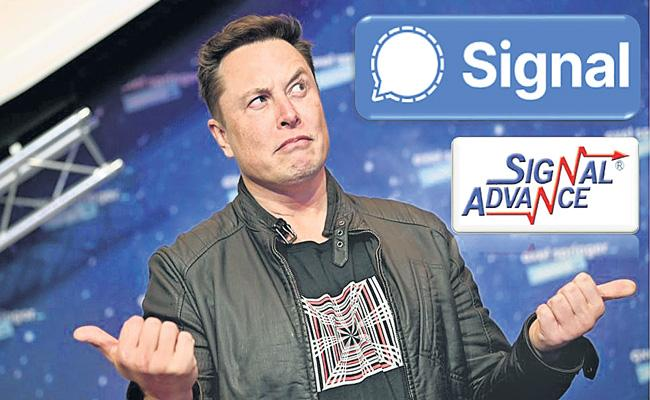 Signal sees surge in new signups after boost from Elon Musk - Sakshi