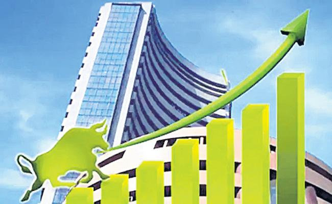 Sensex crosses 49,000-mark for first time ever Nifty above 14,400 - Sakshi