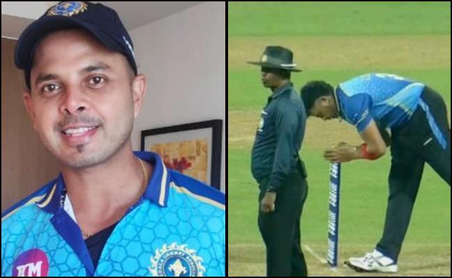 Video Of Sreesanth Bowls Out Batsman On Return To Competitive Cricket - Sakshi