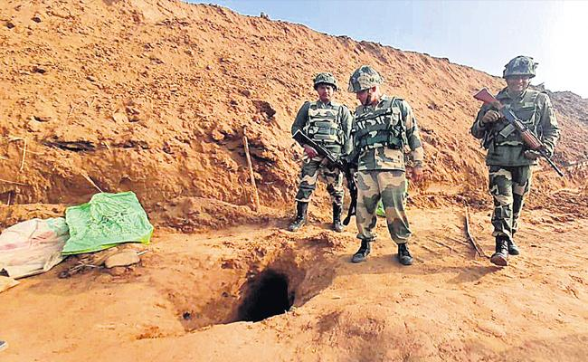 BSF Detects 150 Meter Tunnel Along India Pakistan In Jammu - Sakshi