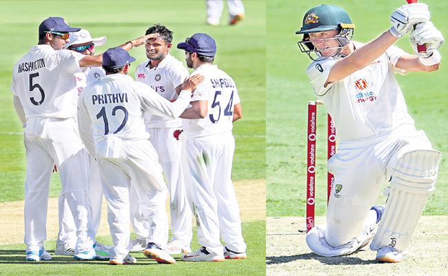 Aussies record 274/ for 5 at stumps on Day 1 - Sakshi