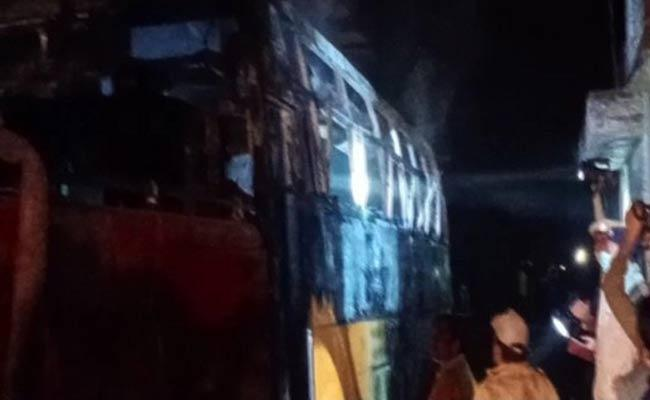 Bus Fire Accident In Rajasthan - Sakshi