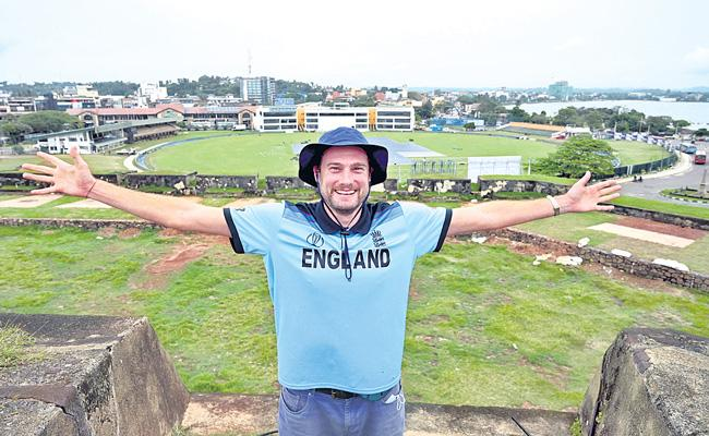 England fan who waited in Sri Lanka for 10 months excited for cricket to begin - Sakshi