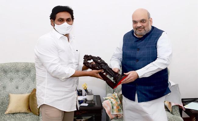 AP Cm YS Jagan Mohan Reddy Meet Amit Shah In Delhi - Sakshi