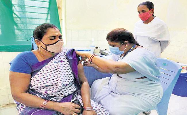Corona Vaccination For 14606 People In The Third Day - Sakshi