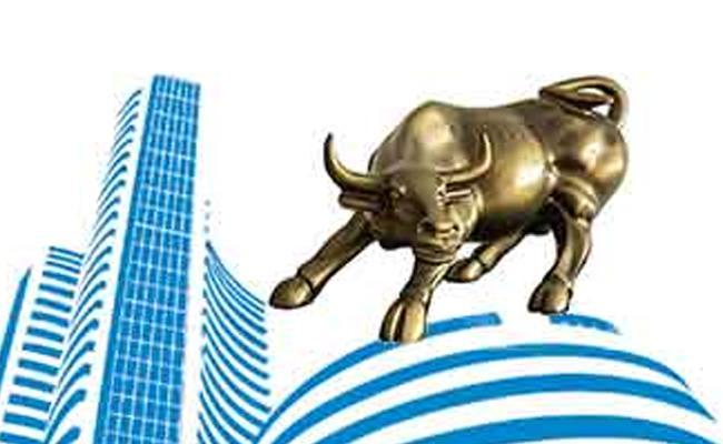 Sensex  touches  49k, Nifty crosses 14400  - Sakshi