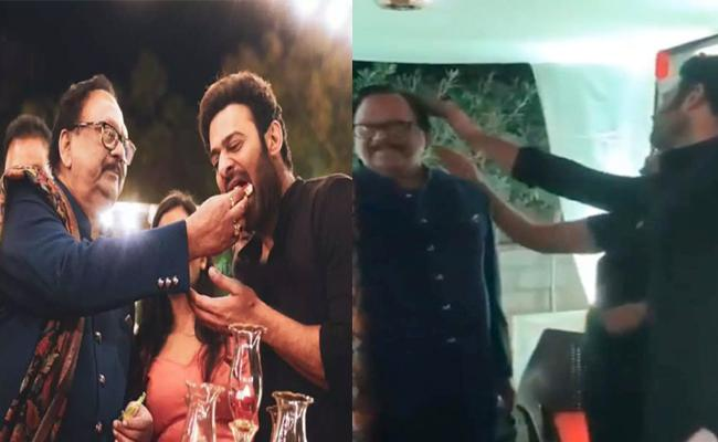 Prabhas Adjusting Krishnam Raju Hair, Video Went Viral - Sakshi