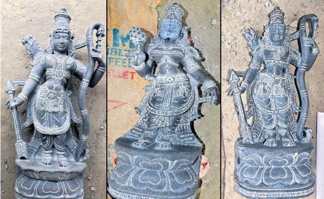 Idols Of Rama Lakshmana And Sita Ready To Prestige In Ramatheertham - Sakshi