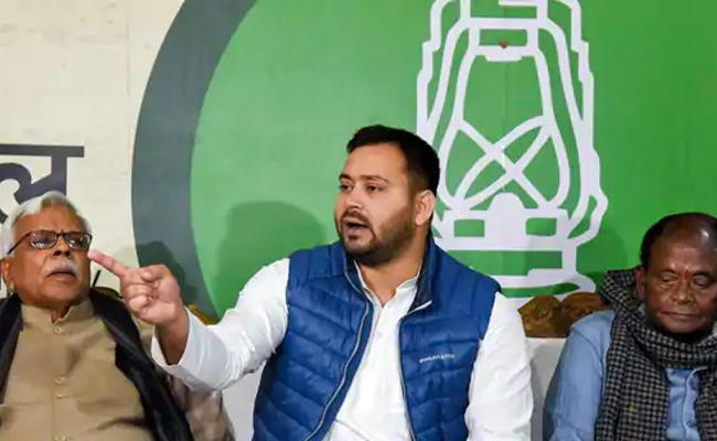 Tejashwi Yadav Compared Nitish Kumar To Hitler And Bhishma Pitamah Of Corruption - Sakshi