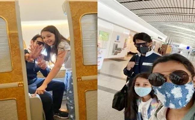 Mahesh Babu Off To Dubai With Family For Movie Shooting - Sakshi