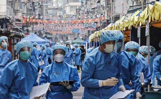 Hong Kong Locks Down 10,000 For Mandatory Covid Testing - Sakshi