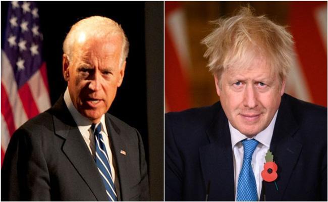US President Joe Biden and Boris Johnson discuss Covid-19 recovery in phone call - Sakshi