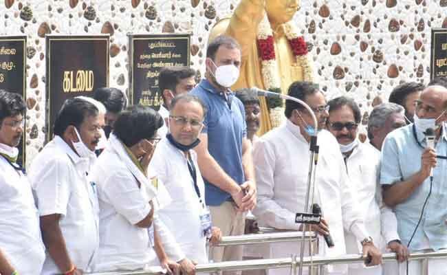 Rahul Gandhi Says BJP To Disrespect Tamil People In Road Show - Sakshi