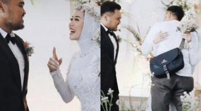 Bride Asks for Husband Permission to Hug Ex Boyfriend at Their Wedding - Sakshi