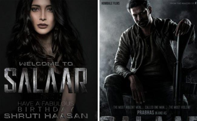 Highest Remuneration For Shruti Hassan In Salaar Movie - Sakshi