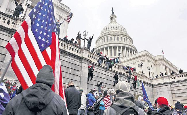 Pro Trump Mob Storm In America By Guest Column - Sakshi