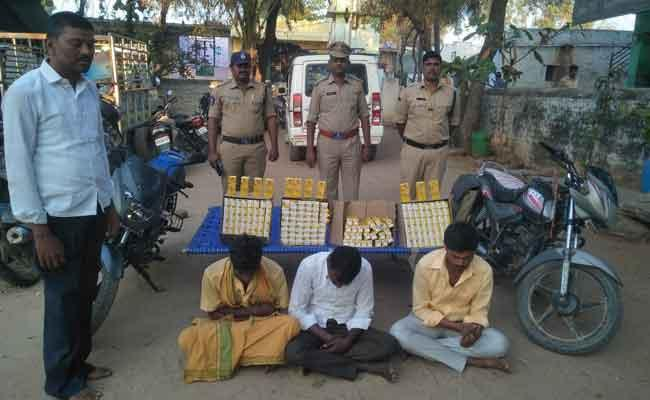 TDP Activists Tried To Attack Police In Anantapur District - Sakshi