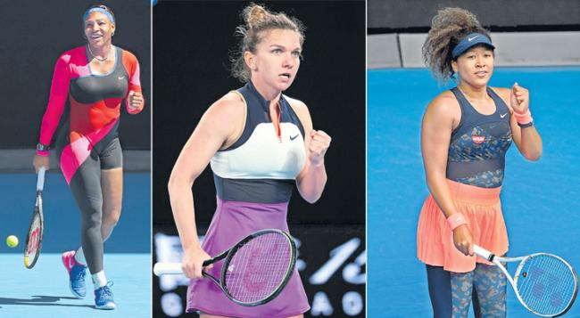 Serena Williams, Naomi Osaka and Simona Halep into Quarter Finals - Sakshi
