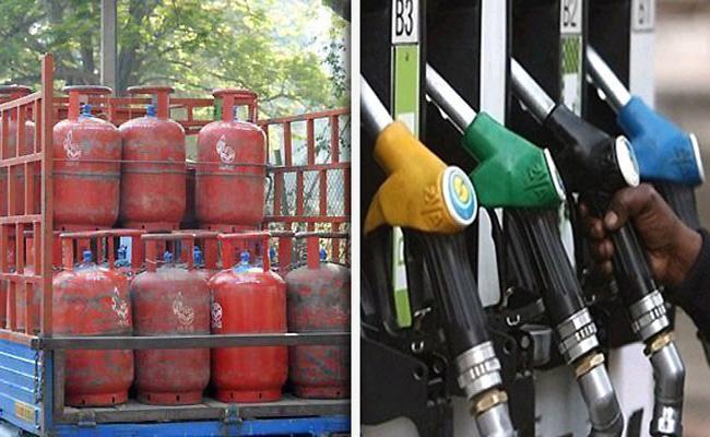 LPG, Petrol And Diesel Prices Hiked - Sakshi
