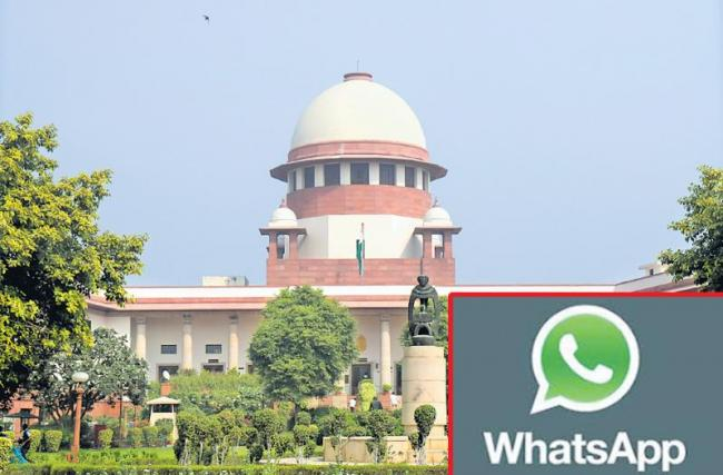 Supreme Court issues notice to WhatsApp, Facebook over new privacy Policy - Sakshi