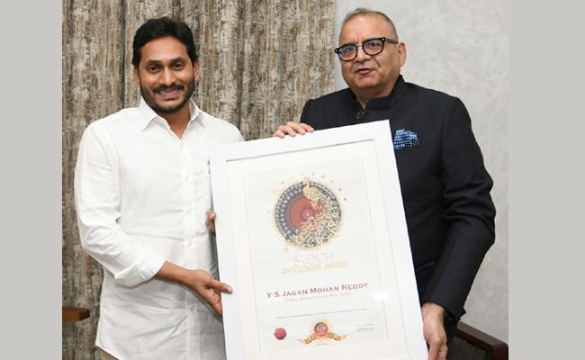 YS Jagan Mohan Reddy Conferred With SKOCH CM of The Year - Sakshi