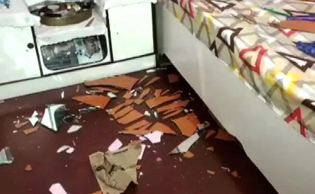 TMC MLA Nihar Ranjan Ghosh House Party Office In Malda Vandalised - Sakshi