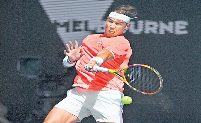 Rafael Nadal enters quarterfinals of Australian Open Tennis - Sakshi