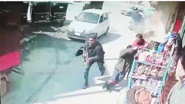 Terrorist Open Fire On Police In Srinagar Baghat Barzulla - Sakshi