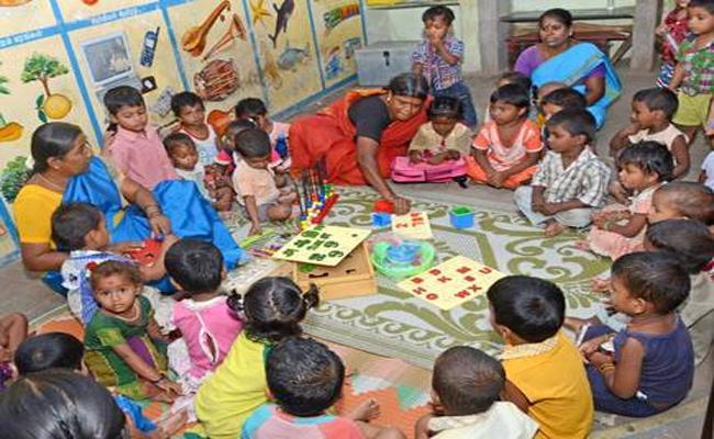 YSR pre-primary schools started - Sakshi