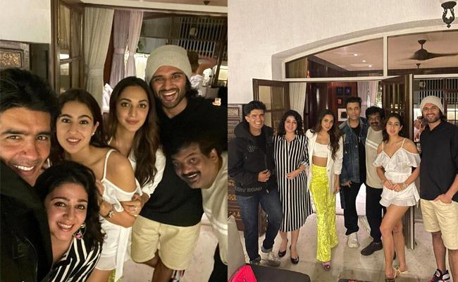 LIger Movie Team Floating In Bollywood Parties Photos Goes Viral - Sakshi