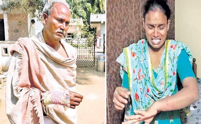 TDP Followers Attack On Police In Srikakulam District - Sakshi