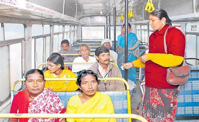 Maroon Color Uniform For Lady Conductors In TSRTC Buses - Sakshi