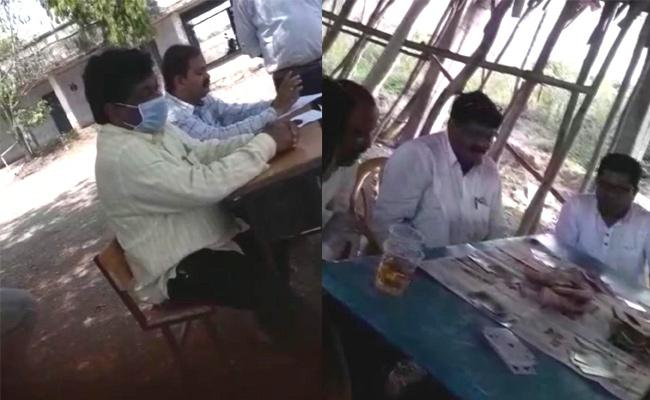 MEO Officer Drunk And Dance In School At Adilabad District - Sakshi