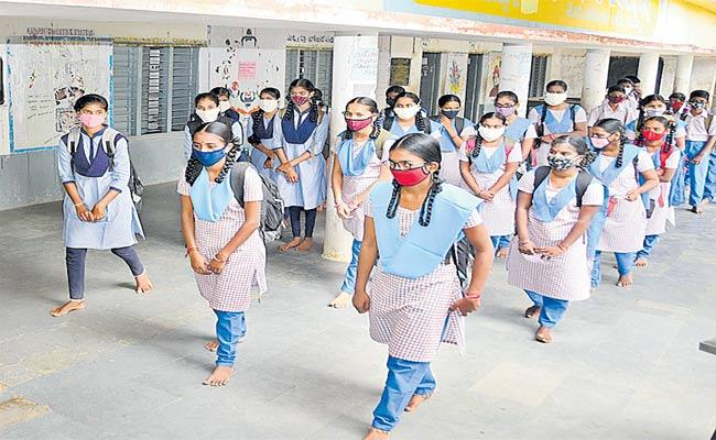 6,7,8 Classes Starts From Today In Telangana - Sakshi
