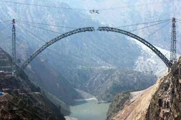 Chenab Railway Bridge Ready For Unveiling In Jammu Kashmir - Sakshi